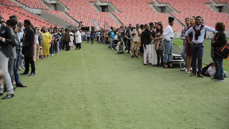 PE Presenter Search Auditions Stadium Queue